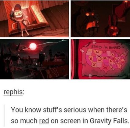 True That<<< that's because red is known to be a very aggravating colour associated with blood and death. Therefore psychologically we register this as an aggravating/dangerous situation. If there's lots of blue it's the opposite and creates a calming effect