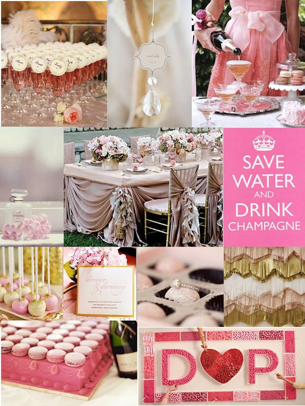 Bling & Bubbly Bridal Shower - I so want this for my Bridal shower someday!!! It's completely me :)