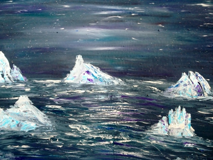 Floating Castles  Acrylics on Canvas board  March 10, 2013