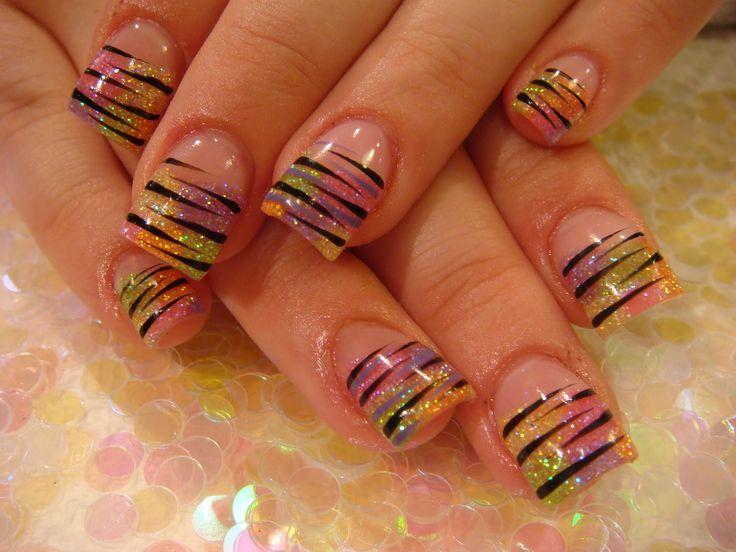 Rainbow zebra!: Zebras Stripes, Nails Art, Rainbows Zebras, Cute Nails, Nails Design, Spring Colors, Nails Polish, Zebras Nails, Rainbows Nails