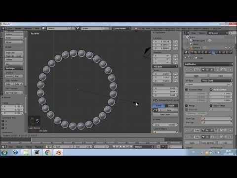 Blender3D 10 Add modifier Giriş Array, Curve ve kısayol tuşlarıCrtl+Tab, Ctrl+A, Ctrl+B - YouTube