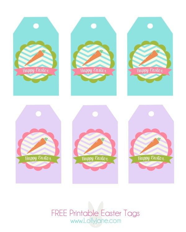 107 best springeaster printables images on pinterest easter happy easter tags free printable negle Choice Image