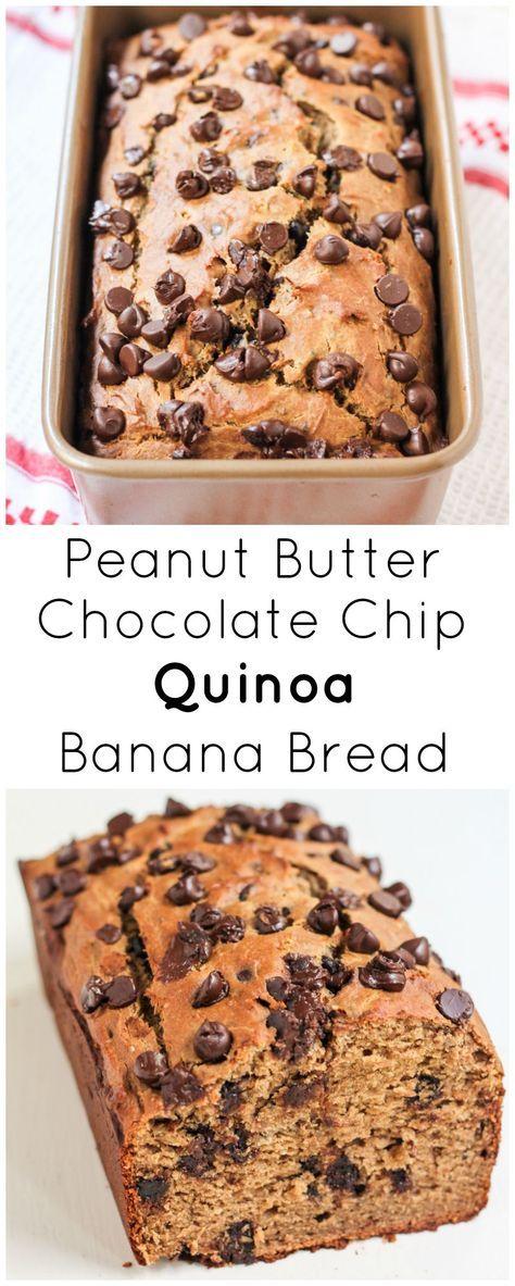 Peanut Butter Chocolate Chip Quinoa Banana Bread | Recipe | Butter ...