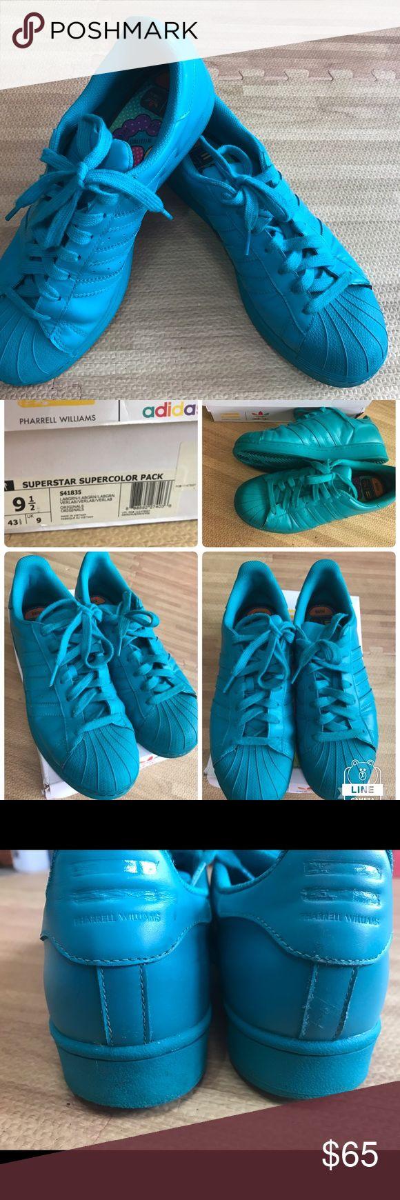 Adidas Superstar super color sz 9.5 mens Adidas superstar super color mens sz 9.5 authentic 100% by Adidas good condition Adidas Shoes Athletic Shoes