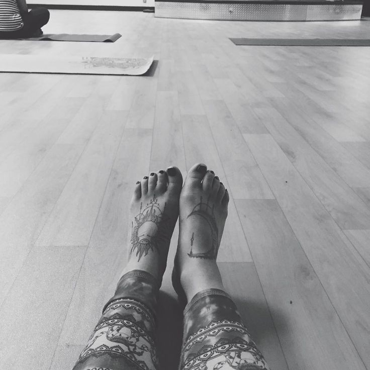 out of our heads and into our hearts we go 💛  #yoga #tattoos