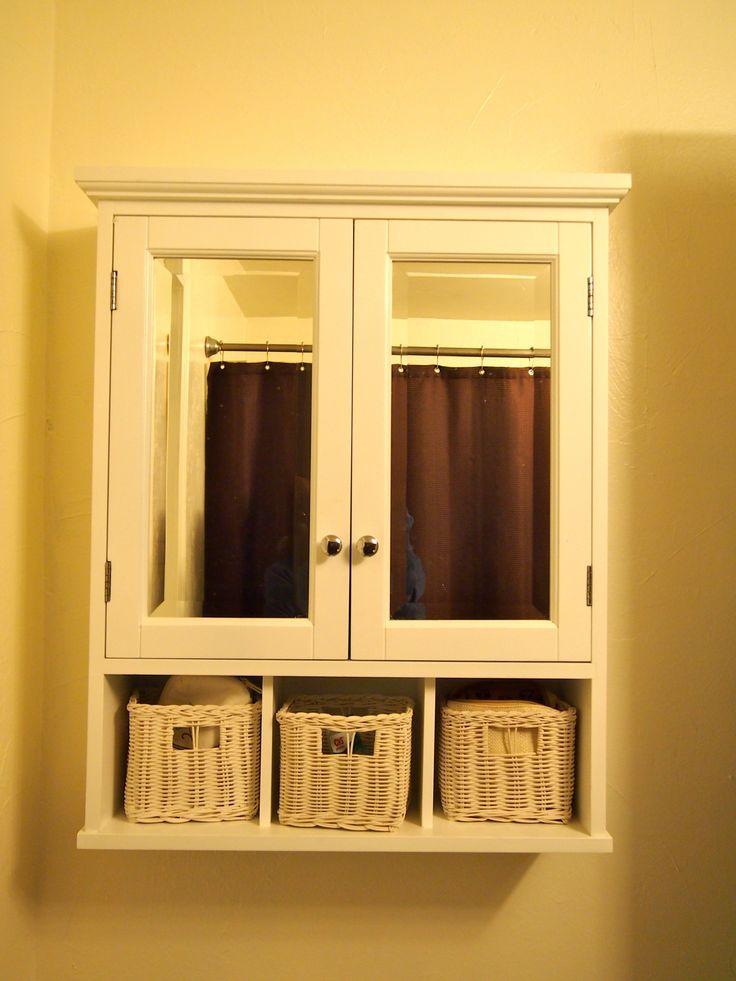 White Wood Wall Storage Cabinet