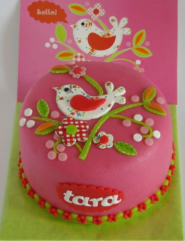 Happy Birthday Tara!  Wish I could make this cake for you but I can't...you will have to settle for chocolate cake & buttercream frosting;-)