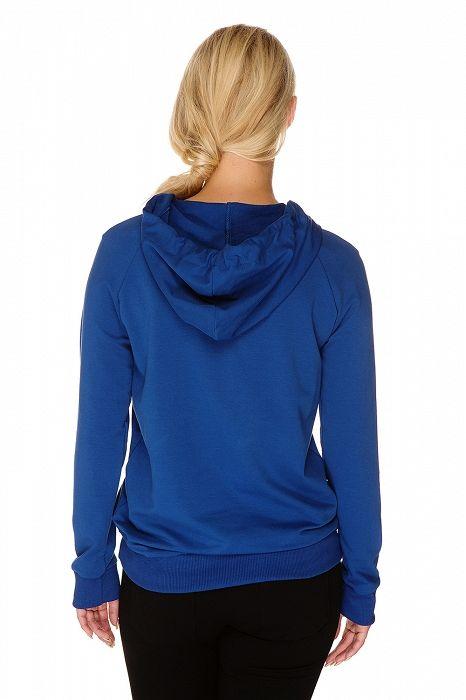 P355 Multifunkční mikina Maggie modrá - My Tummy - Luxusní, elegantní a praktické oblečení pro těhotné a kojící ženy