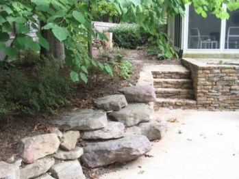 Use #landscape #boulders for additional security on your property. Repin! | Washington DC | Irwin Stone