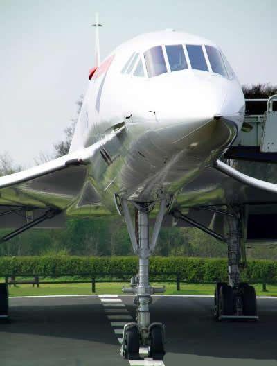 British Airways Concorde Nose View