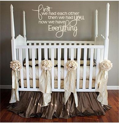 New Baby Quote quote home sweet baby decorate nursery crib neutral baby