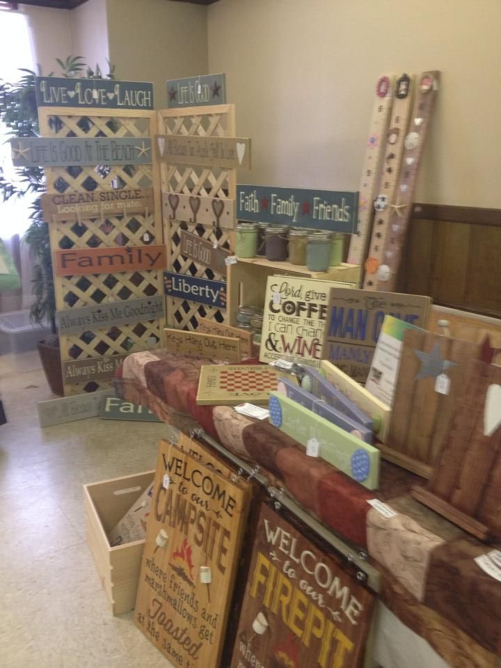 Image result for Craft Booth Display Ideas for wood signs