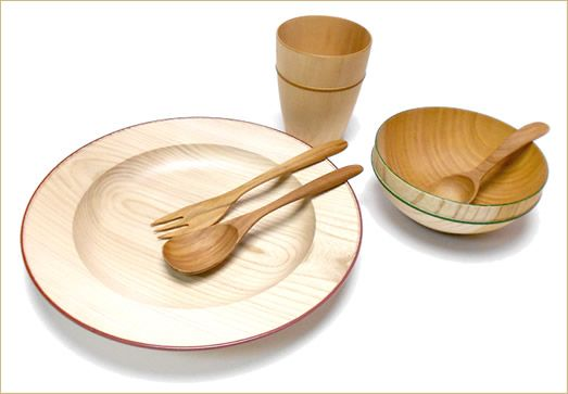 Moku Wooden Tableware by traditional manufacturer #Isuke via White Rabbit Express