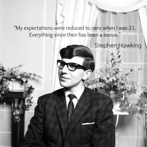 Hawking - told at the age of 21 (in 1963) that he had under 2 years to live.... Still alive