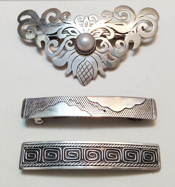 23 Best Vintage Sterling Silver Hair Clips Images On