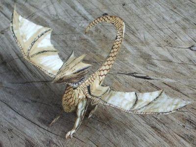 Tektonten Papercraft: Miniature Gaming White Dragon Paper Model