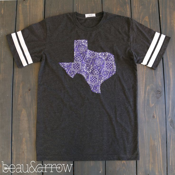 Texas State Outline Football Tee-TCU (Ships April 13th)