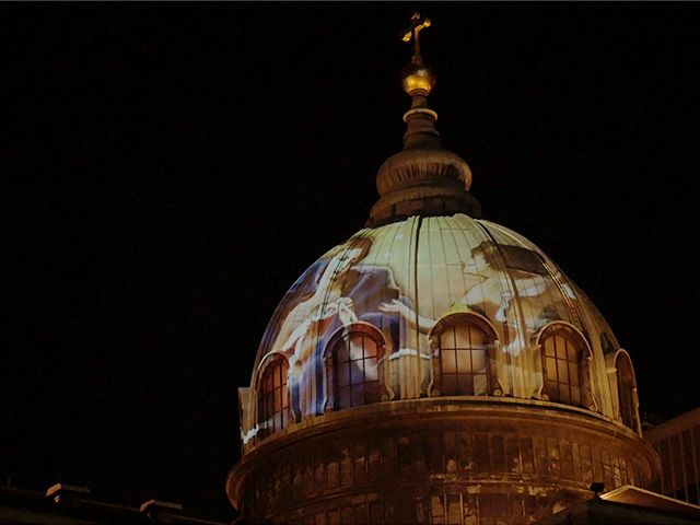 Best Dome Projection Images On Pinterest Projection Mapping - Projection mapping turns chapel into stunning work of contemporary art