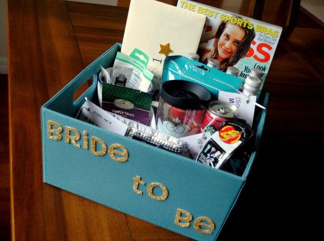 Bachelorette Party Gift Basket -- A homemade gift basket!