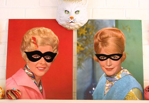 A fun way to give your artwork a little Halloween flair: masks!