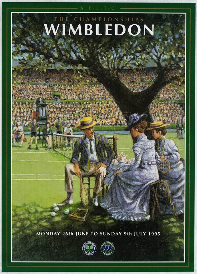 Vintage Wimbledon 1995 poster.