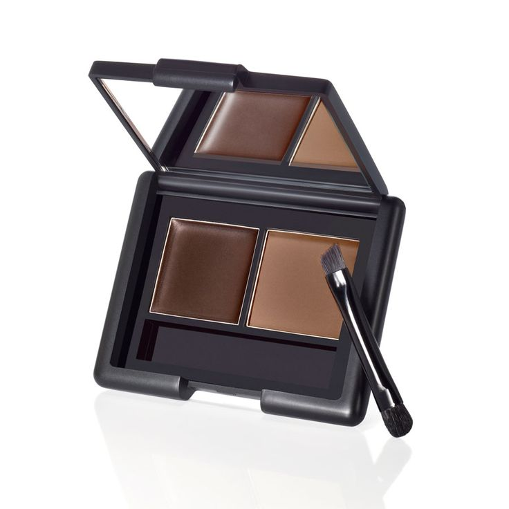 Create brows that are fuller, thicker, and more defined! The pigmented wax defines and shapes brows and the color complementing setting powder keeps them looking arched and perfected. The doubled side