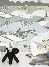 Wandbild My Village von MR PERSWALL