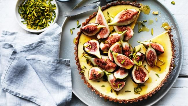 Matt Moran recipe: Ricotta-yoghurt tart with figs, honey and pistachios is a more-ish combination | DailyTelegraph