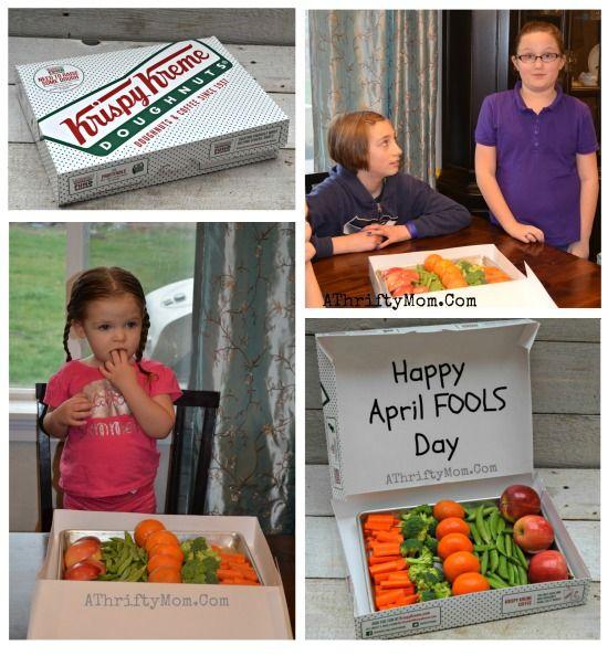 April Fools Joke Prank ideas Krispy Kreme turns into veggies, Easy and nice Aprils fools jokes for kids, family friendly gags, Popular funny pranks