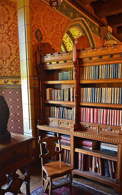 Cardiff Castle Library, Wales.