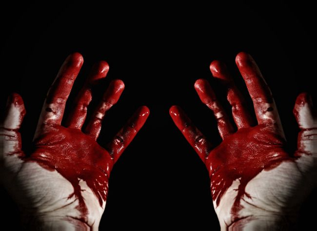 Image result for blood murderers on hands