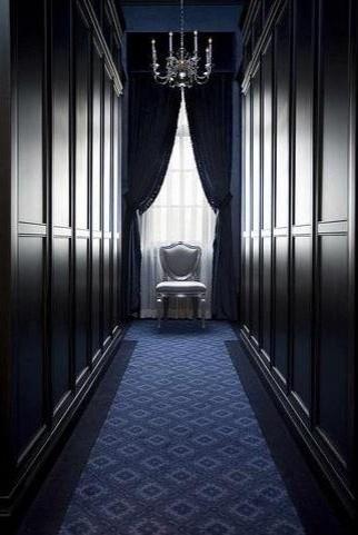 classic: Hallways, Design Interiors, The Angel, Interiors Design, Closet Design, Wooden Wall, Master Bath, Dresses Rooms, Black Wall