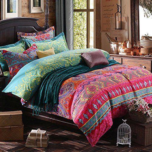 duvet designs orange comforter thicken sets in set cotton king bedding size bohemian