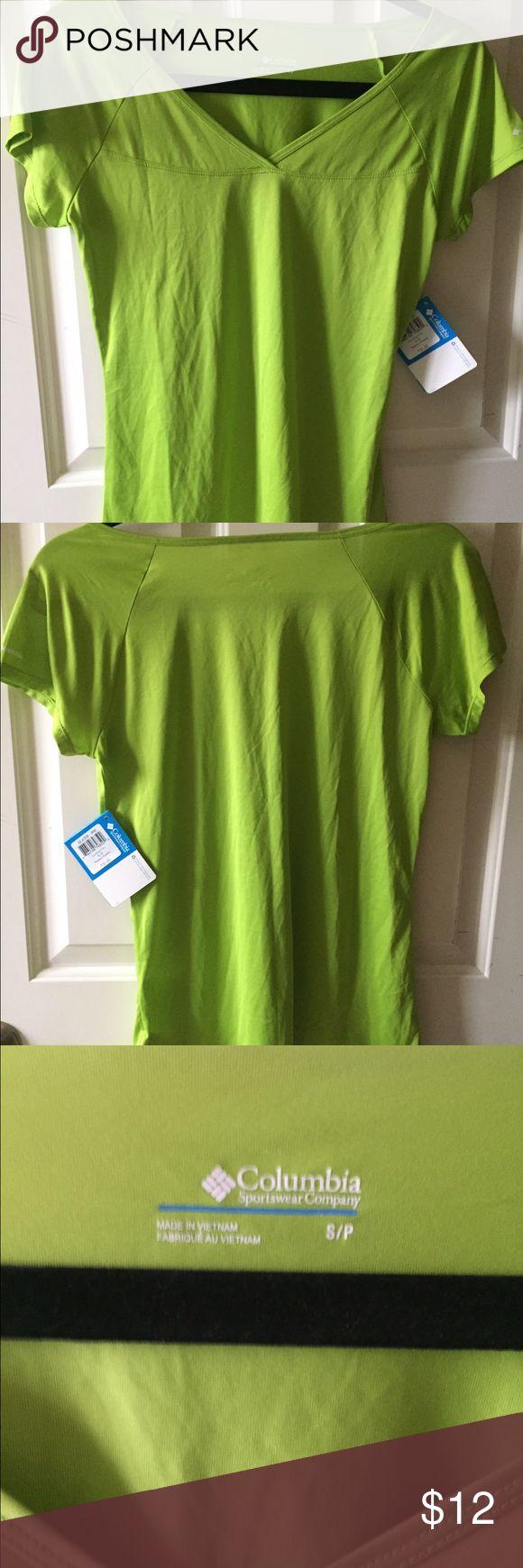 NWT Columbia shirt Bright green (think color rush Seahawks green) and semi sheer. Columbia Tops Tees - Short Sleeve