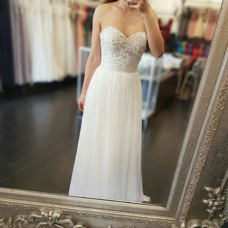 Tequila Sunrise in white - After an all white wedding, this is a great option, has a bit of sparkle and beautiful bodice.