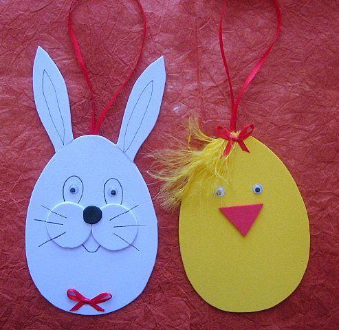 Húsvéti nyuszi és csibe dekorgumiból
