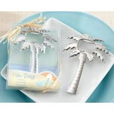 Palm Breeze - Chrome Palm Tree Bottle Opener Wedding Favour