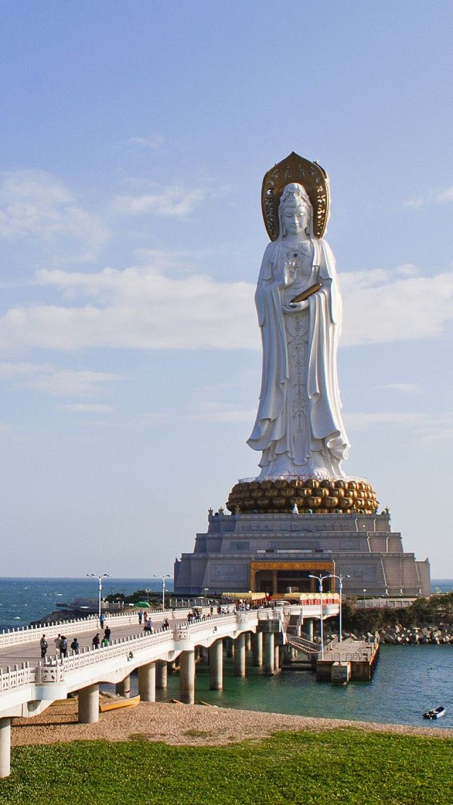 Guan Yin, Sanya, Hainan, China iPhone 5 wallpapers, backgrounds, 640 x 1136