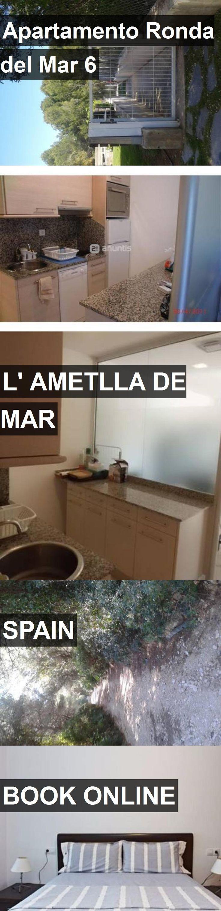 Hotel Apartamento Ronda del Mar 6 in l' Ametlla de Mar, Spain. For more information, photos, reviews and best prices please follow the link. #Spain #l'AmetlladeMar #travel #vacation #hotel