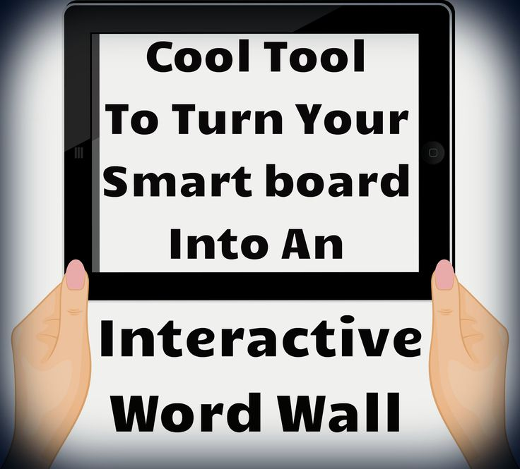 Cool tool to turn your smart board into an interactive word wall. Free!