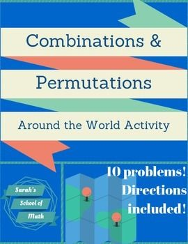 Combinations/Permutations Around the World Activity