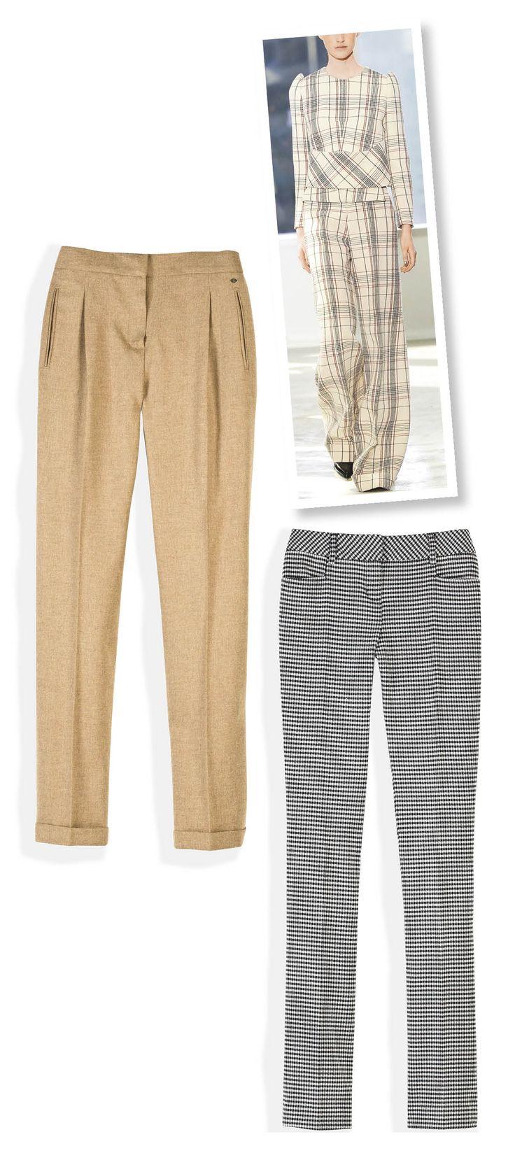 Los pantalones de vestir tipo troursers son básicos para dar ese aire formal. ¿Te atreves a combinarlo con un top del mismo estampado? #TheLook #Fashion