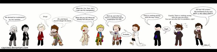 doctor who deviantart | Doctor Who - The Best Dressed? by =caycowa on deviantART
