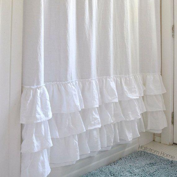 The 25+ best White ruffle shower curtain ideas on Pinterest | Girl ...