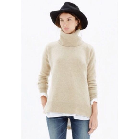 Madewell turtleneck with shirt tail hem Decided to keep for now. ;-) Madewell Sweaters Cowl & Turtlenecks
