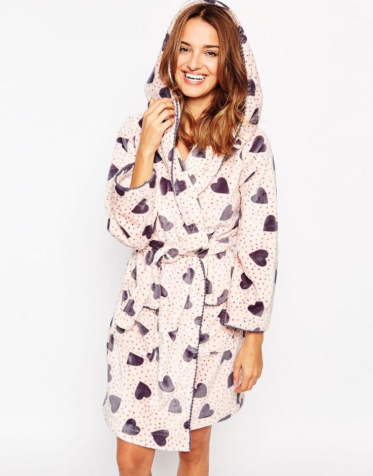 Floozie Heart Print Robe