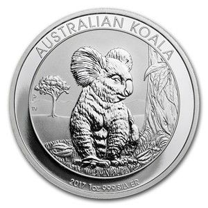 2017 Australian Silver Koala - The Australian Koala series started back in 2007. Each year features a new design, adding collectibility to the .999 fine Silver content. This year's issue has a limited mintage of only 300,000 coins, making them much more collectible as a bullion coin.