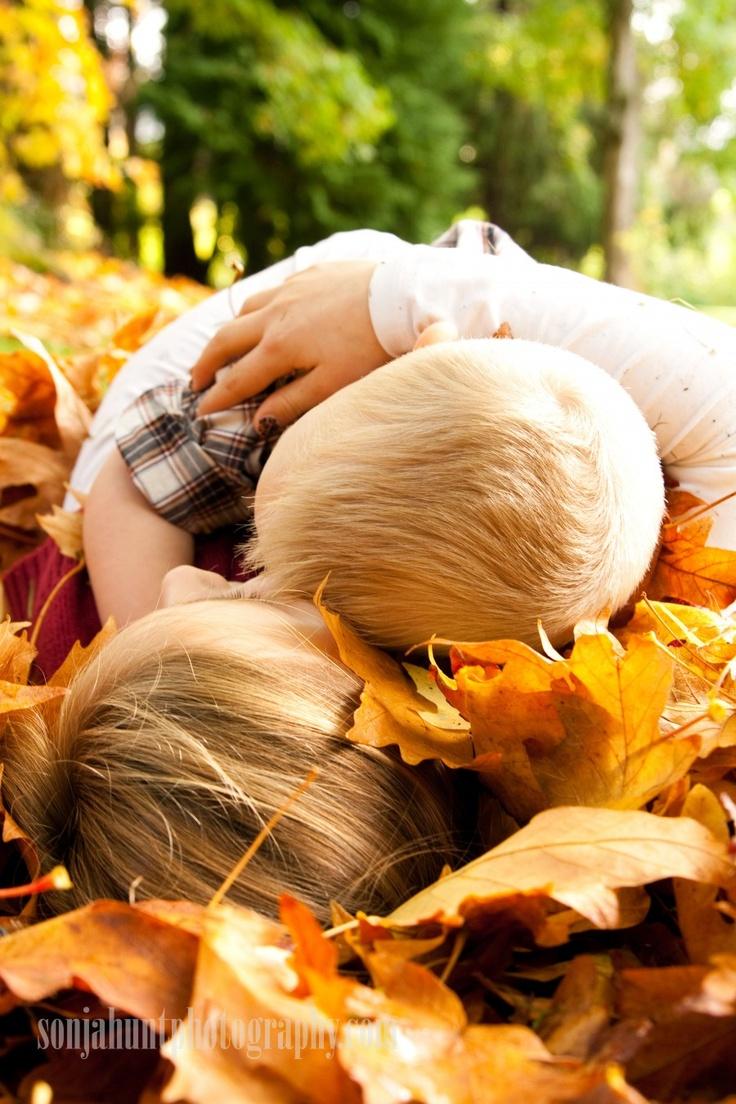 kids fall photo shoot