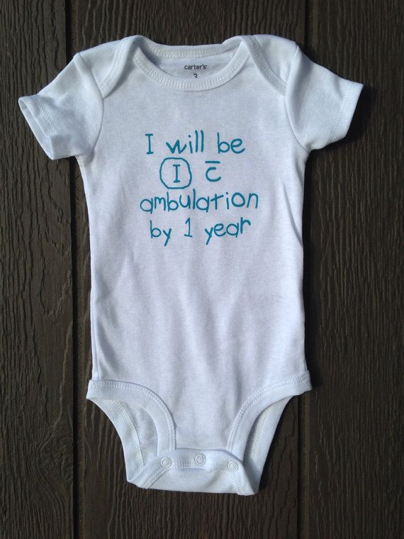 Physical therapy PT baby bodysuit ambulation by BlueBeltBaby