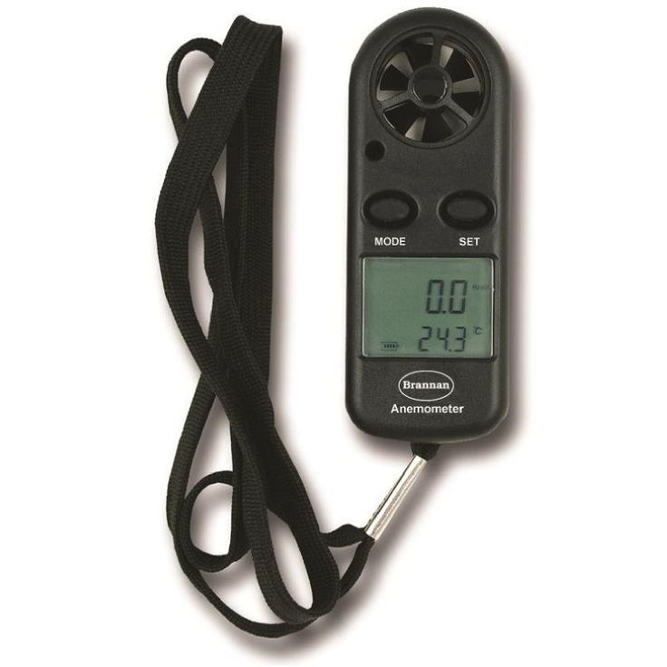 An easy to use, hand held, wind speed meter/anemometer giving an accurate win speed measurement and ambient temperature.